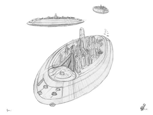 Galactic Alliance Emerald Star Flagship Sketches - Gallery Illustrations Classic View