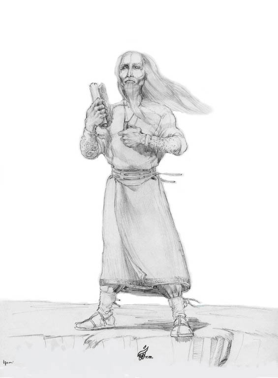 Master Nim Character Sketch and Scene