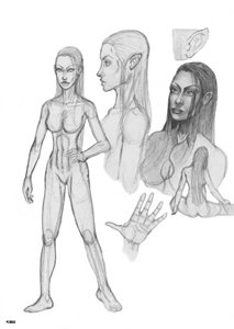 Mayleena Character Sketches - Gallery Illustrations Classic View