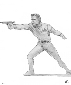 Captain Kalem Starland Character Sketch - Gallery Illustrations Classic View