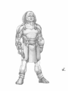 Gorn's Guard Sketch - Gallery Illustrations Classic View